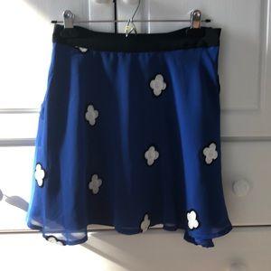 BCBGeneration Blue Mini Skirt Sz 2